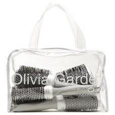 Olivia Garden Ceramic+Ion ezüst körkefe szett